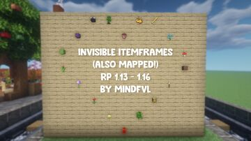 Invisible Item Frames 1.13 - 1.16 Resource pack! (+ mapped item frames) Minecraft Texture Pack