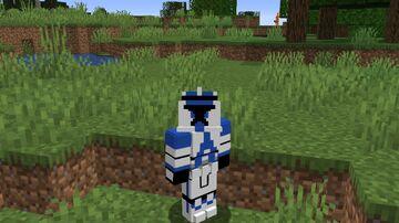 Clone Trooper Custom Player Model Minecraft Texture Pack