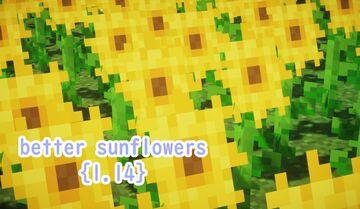 Better Sunflowers! [1.14+] Minecraft Texture Pack
