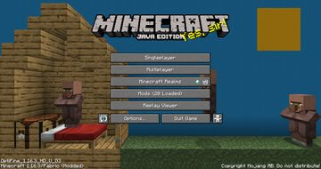villager house title screen background Minecraft Texture Pack