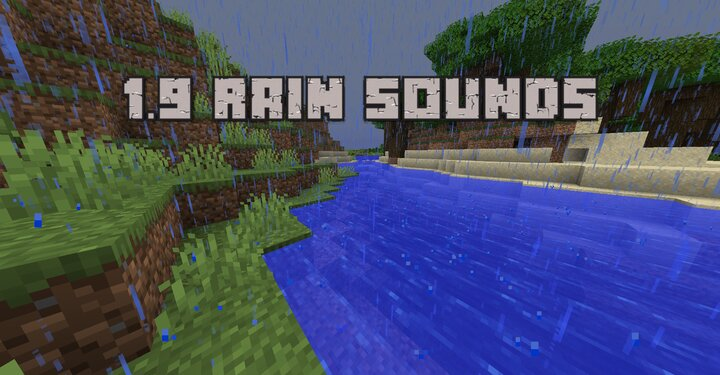 In 1.9 Rain Sounds were updated. This Pack replaces the old bad Sounds with the new one