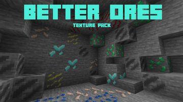 Better Ores (Bedrock Texture Pack) Minecraft Texture Pack