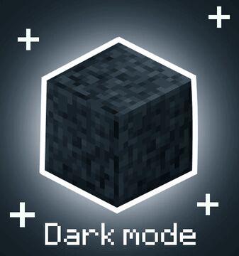 Dark mode+ Minecraft Texture Pack