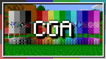 Retro CGA Minecraft Texture Pack
