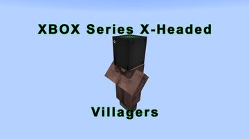 XBOX Series X-Headed Villagers Minecraft Texture Pack