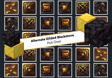 Alternate Gilded Blackstone!   ||   5 OPTIONS! Minecraft Texture Pack
