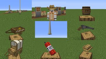 Cowboy 3D Model Pack Minecraft Texture Pack