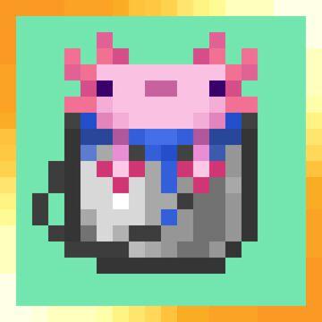Animated axolotl bucket Sucro120 bucket style (1.17.x) Minecraft Texture Pack