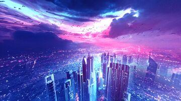 City At Night Sky Overlay (custom sky overlay) Minecraft Texture Pack