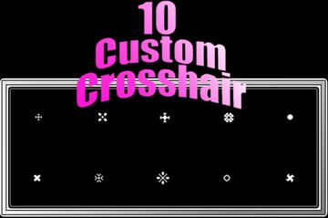 10 Custom Crosshair Minecraft Texture Pack
