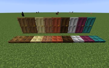 Dark Oak Style Doors Minecraft Texture Pack