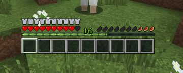 Melon hunger bar (Official faithful 32x addon) 1.12-1.16 Minecraft Texture Pack