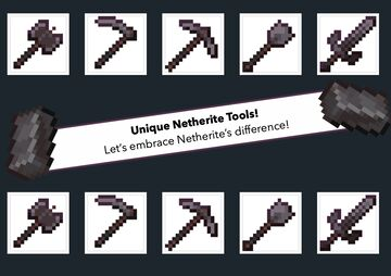 Alternate Netherite Tools Minecraft Texture Pack