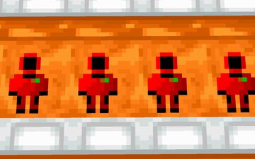 Orange Astro Beds Minecraft Texture Pack