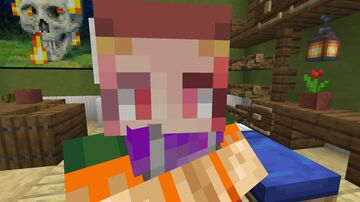 Anime Cat-girls Villagers (with sounds) (Optifine) Minecraft Texture Pack