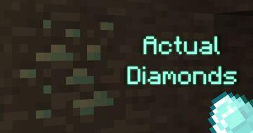 Actual Diamonds Minecraft Texture Pack