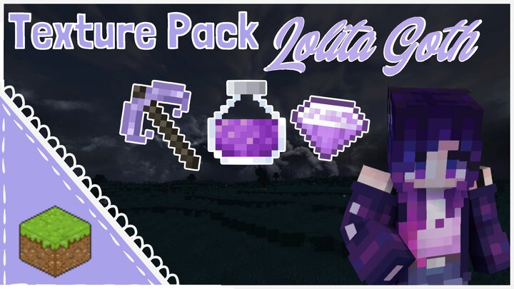 Popular Texture Pack : Gothic Lolita Texture Pack 1.16.1+