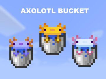 Axolotl Bucket Minecraft Texture Pack