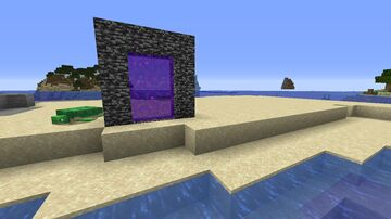 Bedrock Nether Portals! (1.16+) Minecraft Texture Pack