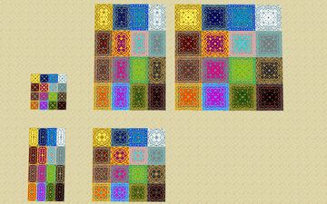 I have added more colors to markpwns1's Persian rug pack Minecraft Texture Pack