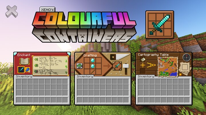 Popular Texture Pack : Colourful Containers GUI (Optifine Required)
