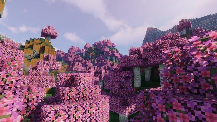 Elegance 16x Cherry Blossom Themed Minecraft Texture Pack
