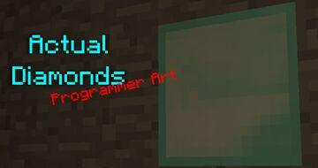 Actual Diamonds Programmer Art Minecraft Texture Pack