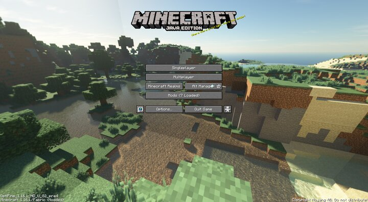Popular Texture Pack : Default Panorama with Shaders