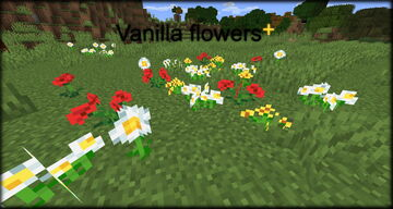 Vanilla flowers+ Minecraft Texture Pack