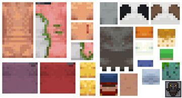 Faceless Mobs Minecraft Texture Pack