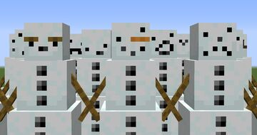 Snow People [ Random Snow Golem Faces ] Minecraft Texture Pack
