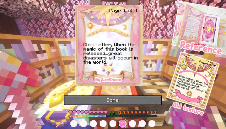 Retextured Book Page! The book of Clow Pink version