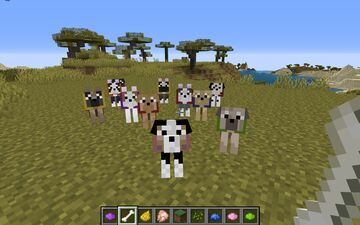 Assorted Dog Breed Texture Pack - Java and Optifine Minecraft Texture Pack