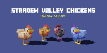 Stardew Valley Chickens Minecraft Texture Pack