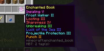 Color Coded Enchantment Types Minecraft Texture Pack
