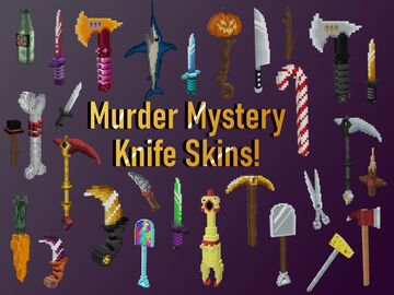 Hypixel Murder Mystery Knife skins! - 1.12.2! Minecraft Texture Pack