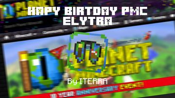 Happy B'day PMC Elytra Minecraft Texture Pack