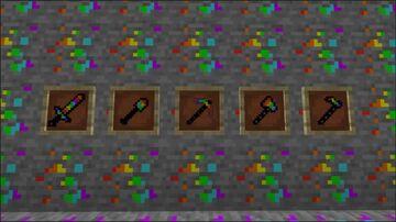 Rainbow Diamond Ore/Tools (1.16.2 And Below) Minecraft Texture Pack