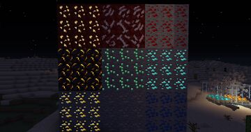 Shiny Ores and Varied Quartz Minecraft Texture Pack