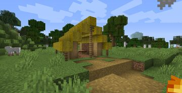 Hay bales with no wraps Minecraft Texture Pack