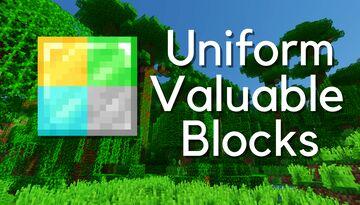Uniform Valuable Ores Minecraft Texture Pack