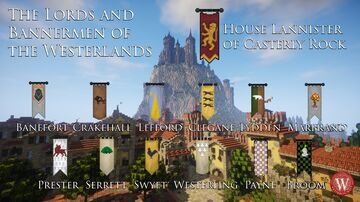 Westeroscraft - Banner Textures of the Lords and Bannermen of the Westerlands Minecraft Texture Pack
