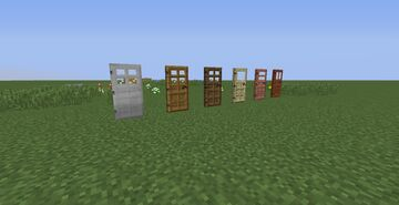 Classic Alternative glass doors (Resource pack add-on) Minecraft Texture Pack