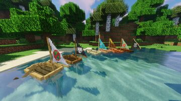 Boat remodels with sails Minecraft Texture Pack