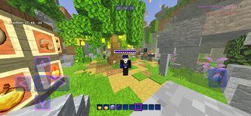 Animated Purple Hotbar Minecraft Texture Pack