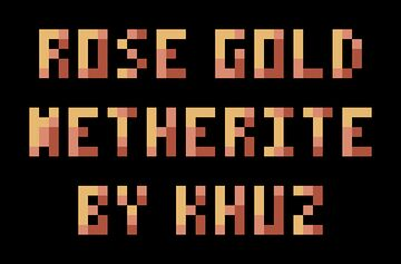 Rose Gold Netherite Minecraft Texture Pack