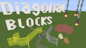 Diagonal Blocks Minecraft Texture Pack