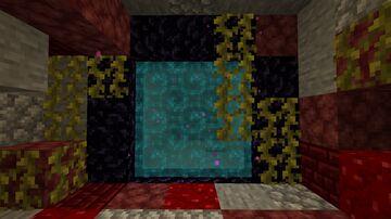 Blue Nether Portal Minecraft Texture Pack