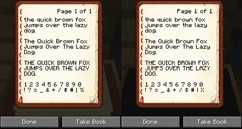 Comparison, Reimagined on the left, default on the right.