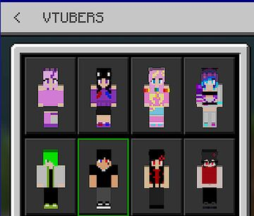 VTUBER skin pack Minecraft Texture Pack